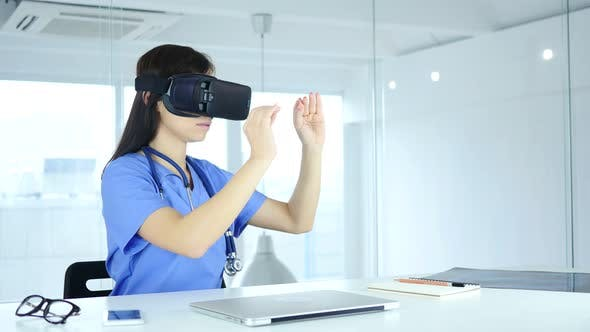 Thumbnail for Doctor Using VR Glasses in Clinic
