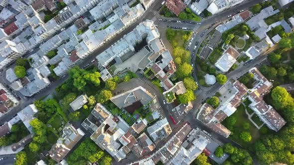 Thumbnail for AERIAL: Top Down Overhead View of Paris Streets in Summer