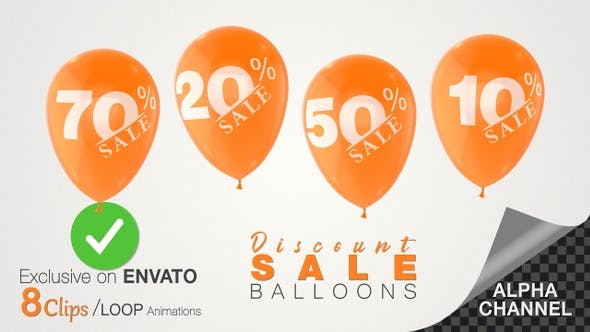 Promotional Sale Discount Balloons