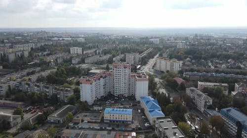 Panorama Of The City And Its Infrastructure From A Bird's Eye View