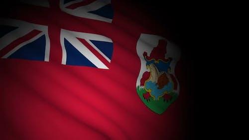 Bermuda Flag Blowing in Wind