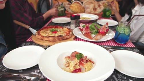 Italian Food In Restaurant