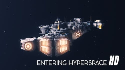 Space Ship Entering Hyperspace HD