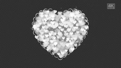White Hearts in The Heart