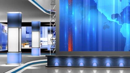 Virtual News Studio Set Background 302