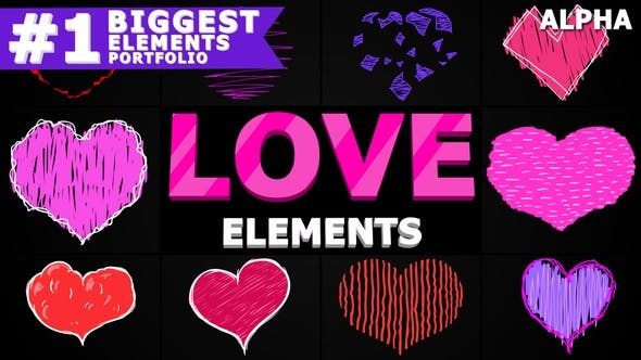 Thumbnail for Cartoon Hearts | Motion Graphics Pack