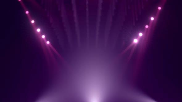 Thumbnail for Looped Purple Defocused Mockup Stage Background