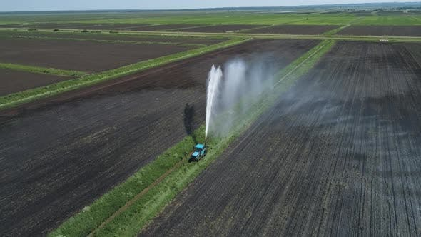 Irrigation System on Agricultural Land