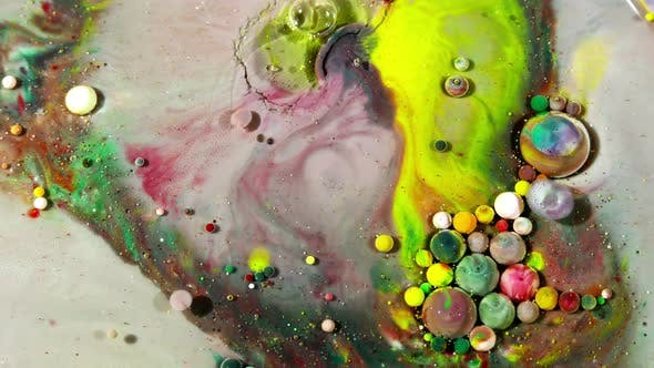 Thumbnail for Colorful Ink Spheres On Oil 3