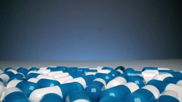 Thumbnail for Many Colorful Capsule Drugs Pills
