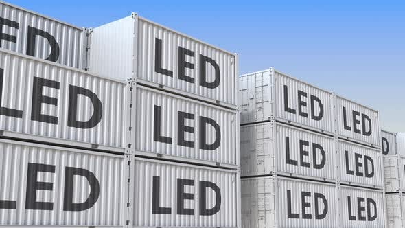 Cargo Containers with LED Lighting Equipment