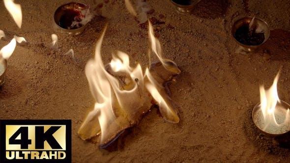 Voodoo Doll On Fire