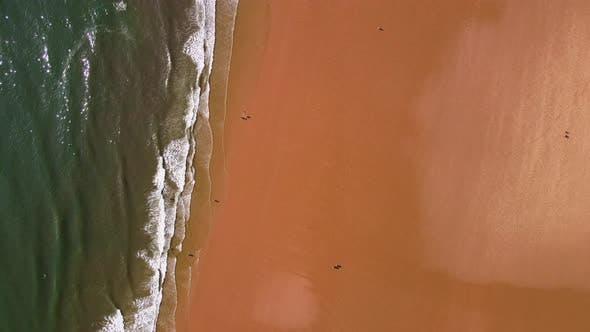 A Top Down Flight over Beach