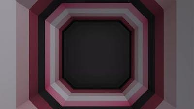 Polygonal geometric paper tunnel
