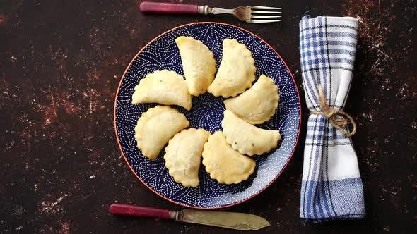 Deep Fried Polish Dumplings with Meat Filling