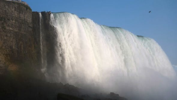 Thumbnail for Niagara Falls Summer Time. Strong water stream.