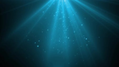 Light Beam And Blue Particles