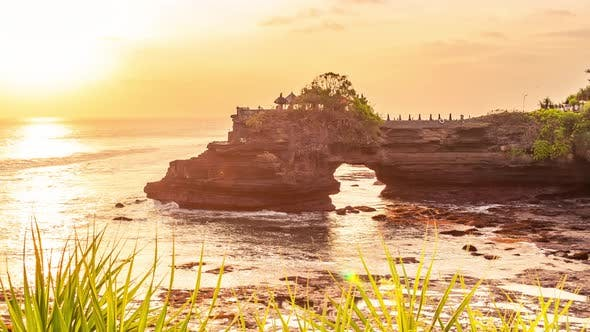 Thumbnail for Sunset at Batu Bolong and Tanah Lot Temple in Bali, Indonesia. Timelapse