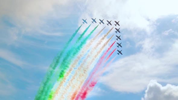 Italy Tricolor Acrobatic Planes