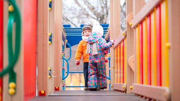 Thumbnail for Children on Playground Equipment