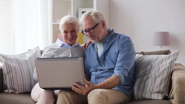 Thumbnail for Senior Couple Having Video Call on Laptop at Home 104