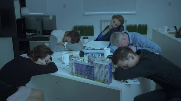 Thumbnail for Model of House on Table, Workmates Sit and Sleep