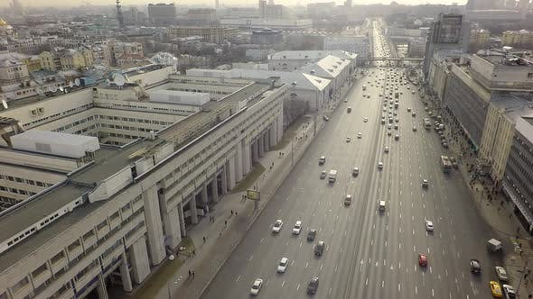 Grey Autumn Moscow View, Aerial