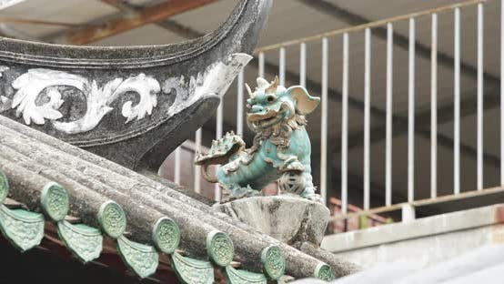Thumbnail for Traditional chinese building with statue