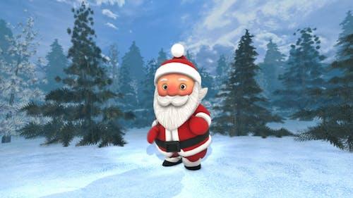 Santa Dancing Salsa In A Forest 4K Video