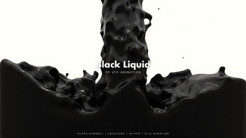 Schwarze Flüssigkeitsfüllung