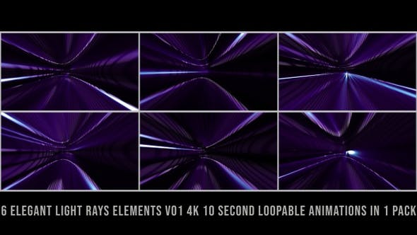 Thumbnail for Elegant Light Rays Elements Pack V01