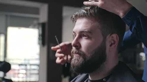 Barber with Amazing Hairdressing Skills