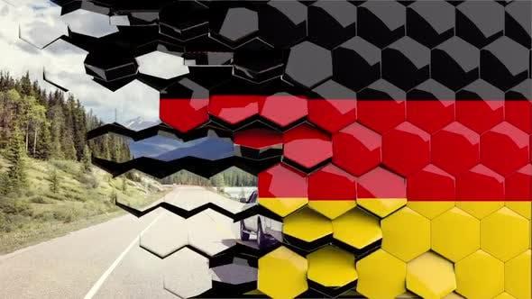 Germany Flag Hexagon Transition - 4K Resolution