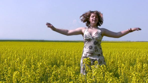 Thumbnail for Girl And Canola Field