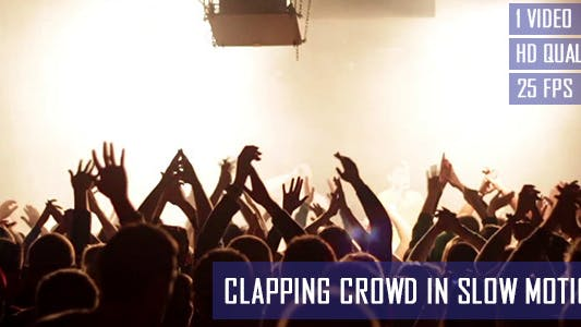 Thumbnail for Clapping Concert Crowd In Slow Motion