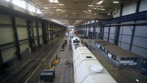 Production of Locomotives at the Plant