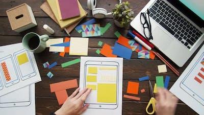 Smartphone Application Developer Working