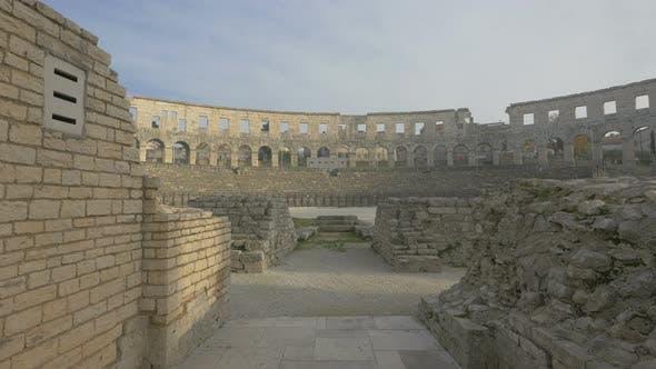 Thumbnail for Stone wall ruins at Pula Arena