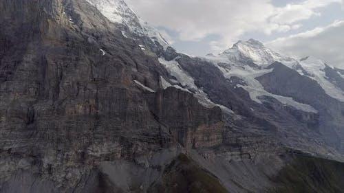 Aerial of Eiger Mountain Switzerland