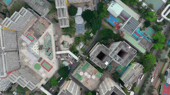 Cover Image for Top view of Hong Kong residential district