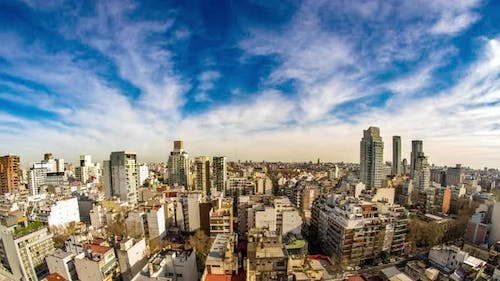 Panorama view of the skyline of Buenos Aires