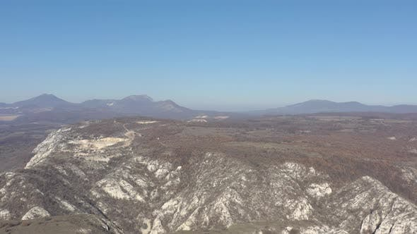 Thumbnail for Deli Jovan Krsh and Stol mountains under the blue sky 4K aerial footage