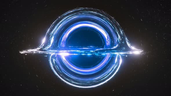 Thumbnail for Blue Black Hole Simulation Seamless Loop