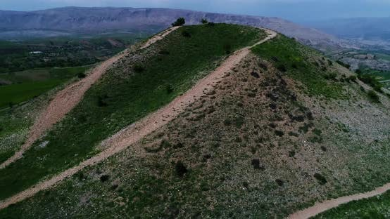 Thumbnail for Hill And Statue Aerial View 4