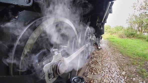 Thumbnail for Retro Vintage Scenery of Historical Steam Engine Train Locomotive