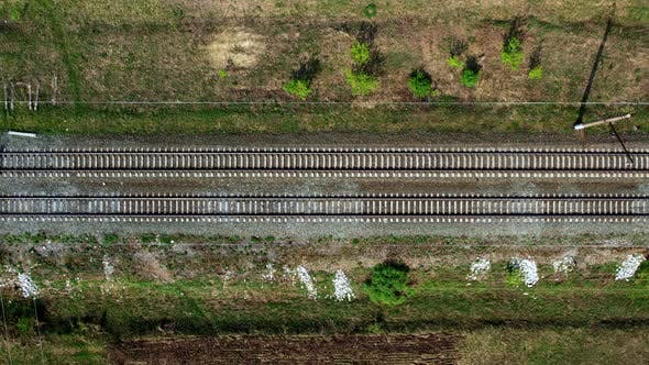 Railway tracks from a height.