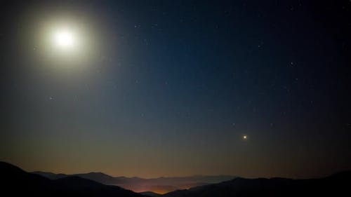 Stars Movement Time Lapse in Carpatian Mountains, Zeitraffer Technic
