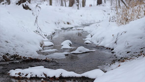 Thumbnail for Winter Small River Flowing