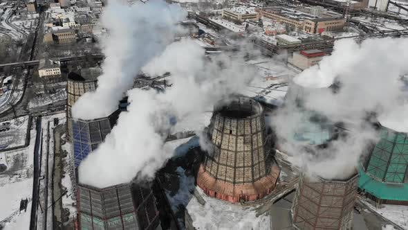 Thumbnail for Contamination Pollution Global Warming Concept Smoke and Steam From Industrial Power Plant