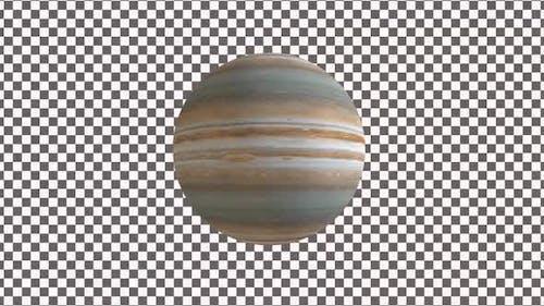 Planet Jupiter With Alpha 4K V1